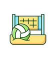beach volleyball rgb color icon vector image