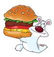 bear and burger vector image vector image