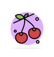 berry cherry food spring abstract circle vector image vector image