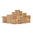 brown stacked cardboard boxes vector image vector image