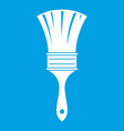 brush icon white vector image vector image