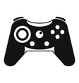 button gamepad icon simple style vector image vector image