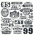 Car repair typographic elements vector image vector image