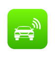 car with wifi sign icon digital green vector image