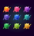 cartoon colorful fantasy planets set slime planet vector image vector image