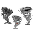 Cartoon tornado and cyclone characters vector image vector image