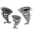 Cartoon tornado and cyclone characters vector image