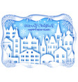 christmas and happy new year card vector image vector image