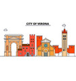 city of verona line travel landmark skylin vector image vector image