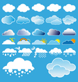 clouds and weather symbols vector image