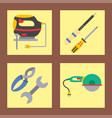 construction worker equipment house vector image vector image
