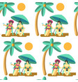 couple relaxing seaside on summer vacation vector image