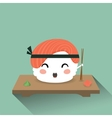 Cute cartoon sushi vector image