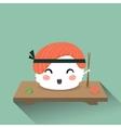 Cute cartoon sushi vector image vector image