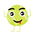 Cute Tennis Ball Cartoon Character vector image