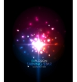Explosion abstract background vector image vector image