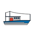 Fishing boat design vector image