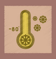 flat shading style icon thermometer cold weather vector image vector image