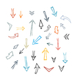 Hand Drawn Arrows Isolated on White Background vector image