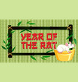 happy new year background design with rat vector image vector image