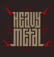 heavy metal - brutal font for labels headlines vector image vector image
