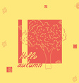 hello autumn tree sketch vector image vector image