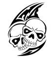 human skull tattoo vintage engraving vector image vector image