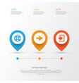Interface icons set collection of lifebuoy ahead vector image