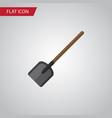 isolated spade flat icon shovel element vector image