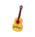 mexican guitar for cinco de mayo holiday flat vector image