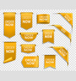 order now gold banners bookmarks web elements vector image vector image