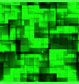 pattern of green tiles and squares with shadow vector image