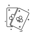 poker icon design vector image vector image