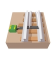 Railroad switch cartoon icon vector image vector image