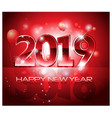 red 2019 happy new year background vector image vector image