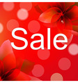 Red Sale Poster With Flower vector image