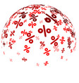 sale ball with red percent vector image