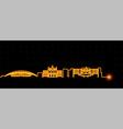 san jose costa rica light streak skyline vector image vector image