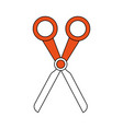 scissor utensil isolated vector image vector image