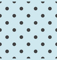seamless pattern with cute tile black polka dots vector image vector image