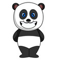 smiling panda on white background vector image vector image