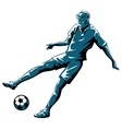 soccer player in action vector image