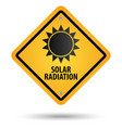 solar radiation sign vector image vector image