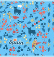 spain and corrida inspired flat hand drawn seamles vector image