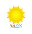 sun icon logo summer design vector image vector image