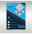 template medical report vector image