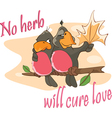 Two Love birds an Adage Postcard vector image vector image