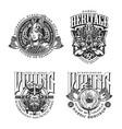 viking vintage monochrome badges vector image vector image