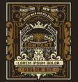 vintage gin label packaging layout vector image vector image