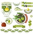 olives emblems vector image